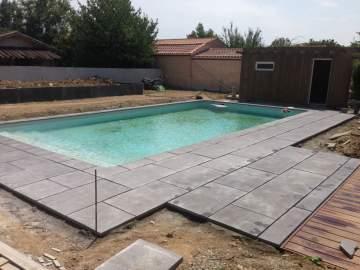 Réalisation de plage de piscine près Colomiers